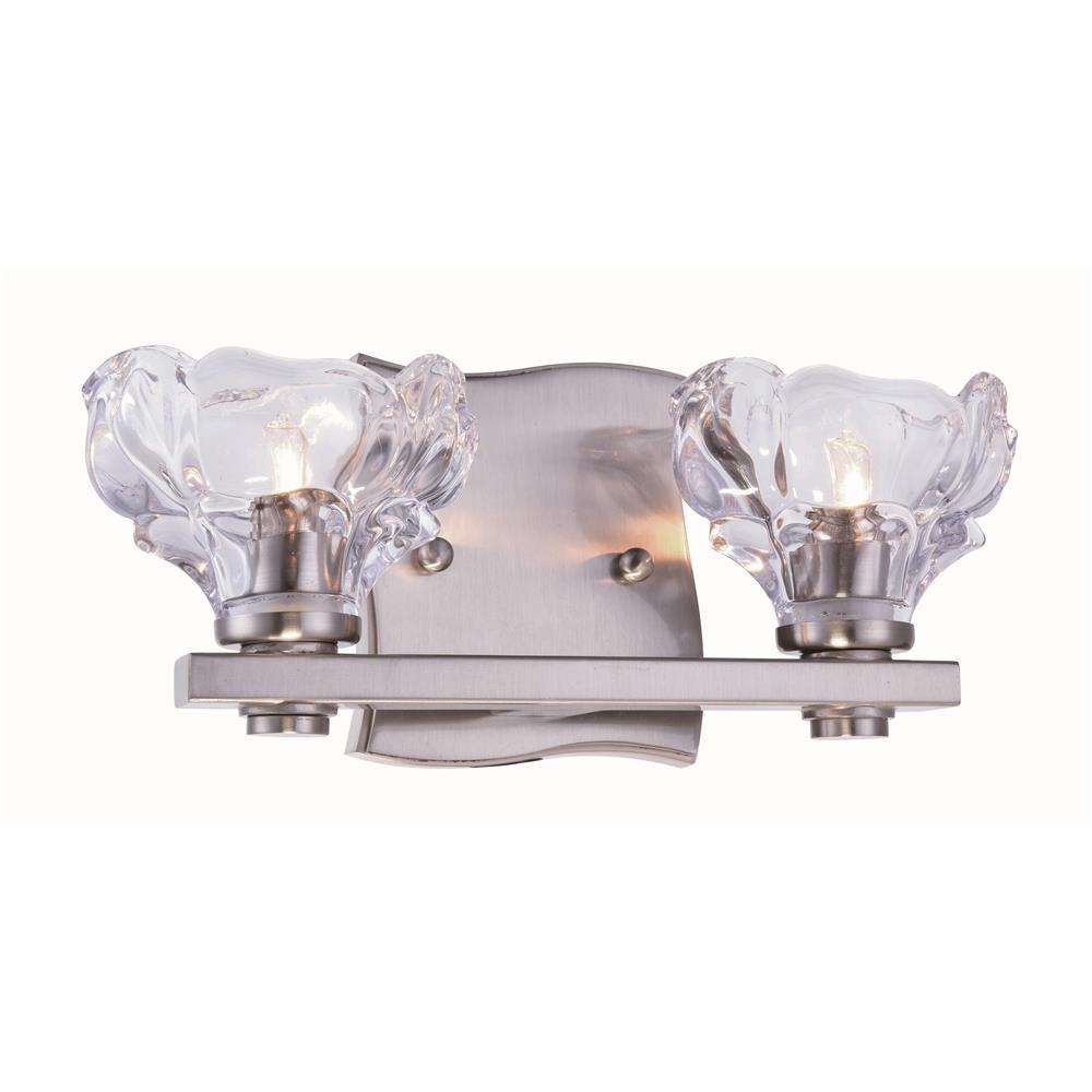 elegant lighting 1518w12bn terpin collection 2 light burnished nickel