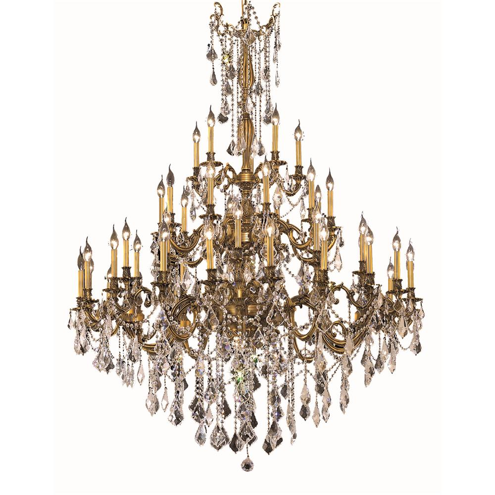 Elegant Lighting 9245G54FG/RC Rosalia 45 Light Foyer in French Gold with Royal Cut Clear Crystal