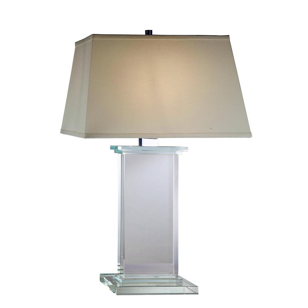 """Elegant Lighting TL1008 Regina  Table Lamp L:18"""" W:11"""" H:28"""" Lt:1 Chrome Finish"""