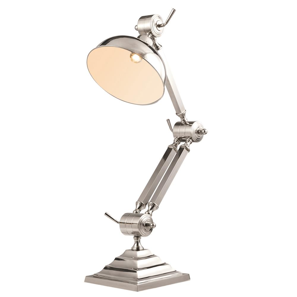 "Elegant Lighting TL1257 Vintage Task  Table Lamp L:11"" W:5.5"" H:47.25"" Lt:1 Chrome Finish"