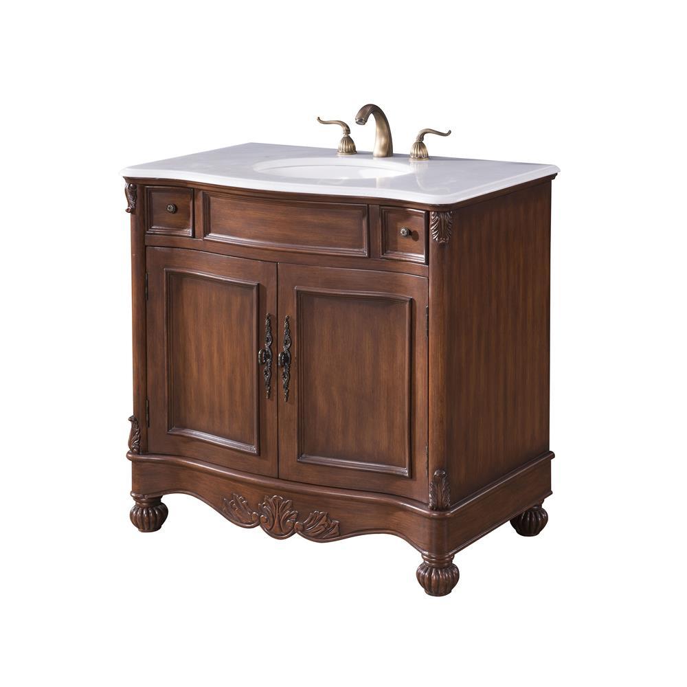 Elegant Bathroom Vanity Lights : VF-1047 - Elegant Lighting VF-1047 Windsor 36 in. Single Bathroom Vanity - GoingDecor