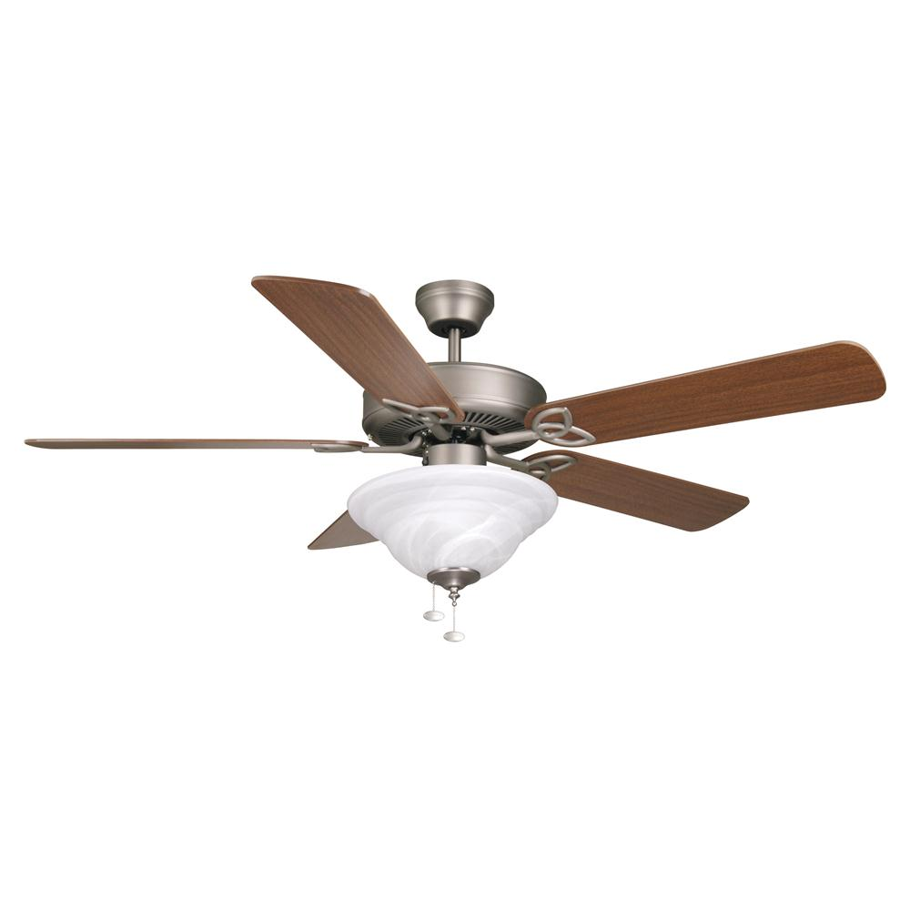 Craftmade BLD52AN5C1 Builder Deluxe Ceiling Fan in Antique Nickel