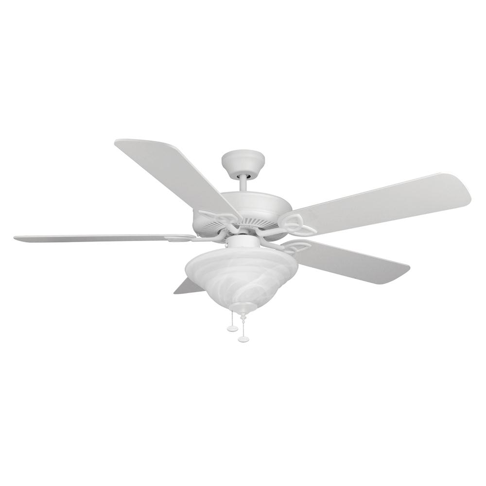 Craftmade BLD52MWW5C1 Builder Deluxe Ceiling Fan in White