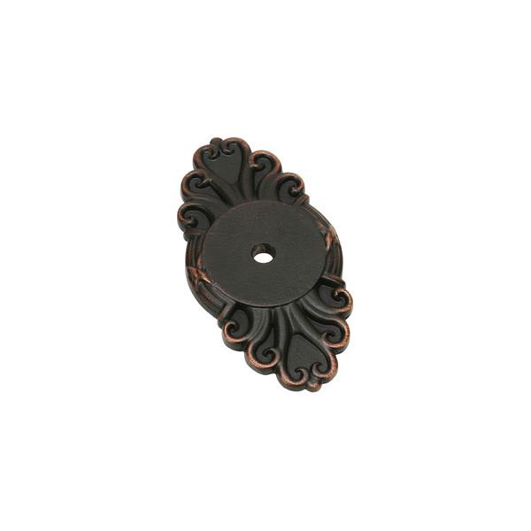 Emtek 86293US10B Ribbon & Reed Back Plate for Knob in Oil Rubbed Bronze