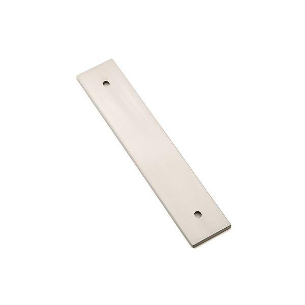 Emtek 86435US15 Art Deco Rectangular Backplate for Pulls in Satin Nickel