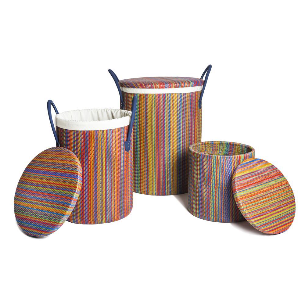 Fab Rugs 810327022865 World Baskets Mindora - Cancun Multicolor Small Basket