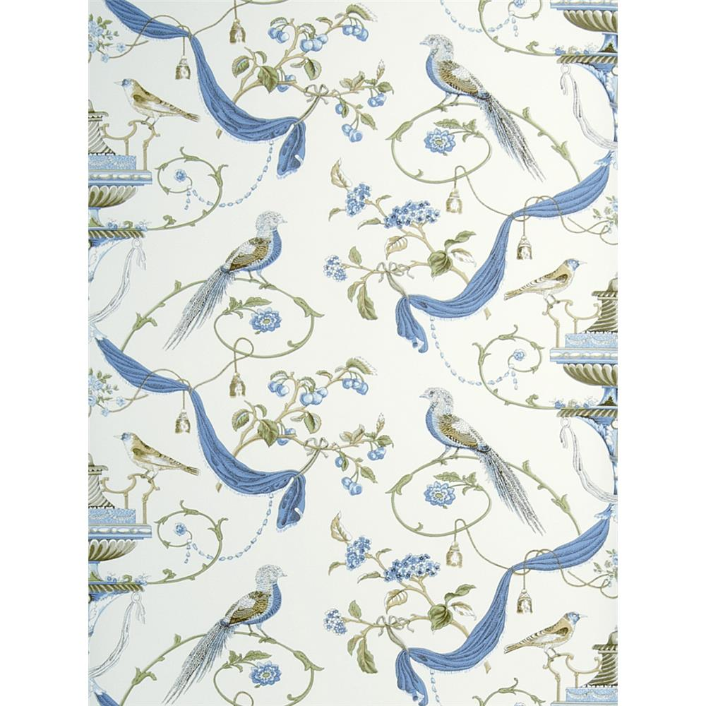 Hinson Wallpaper 697201 - stroheim 697201 hinson blue wallcovering - goingdecor