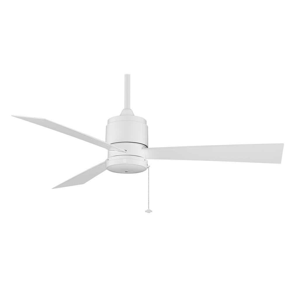 Fanimation FP4640WH ZONIX Uni-pack Fan in WHITE with WHITE Blades