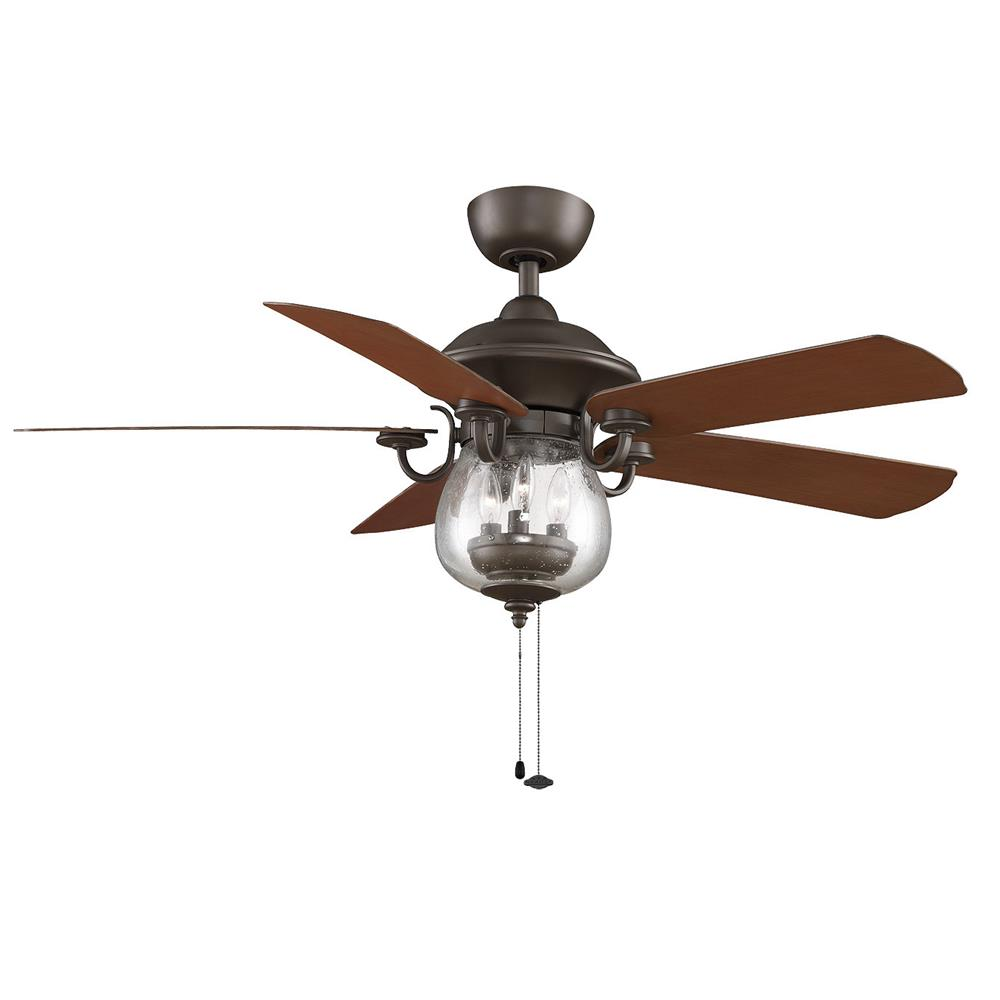 Fanimation FP7954OB CRESTFORD Uni-pack Fan in OIL-RUBBED BRONZE with CHERRY/WALNUT Blades