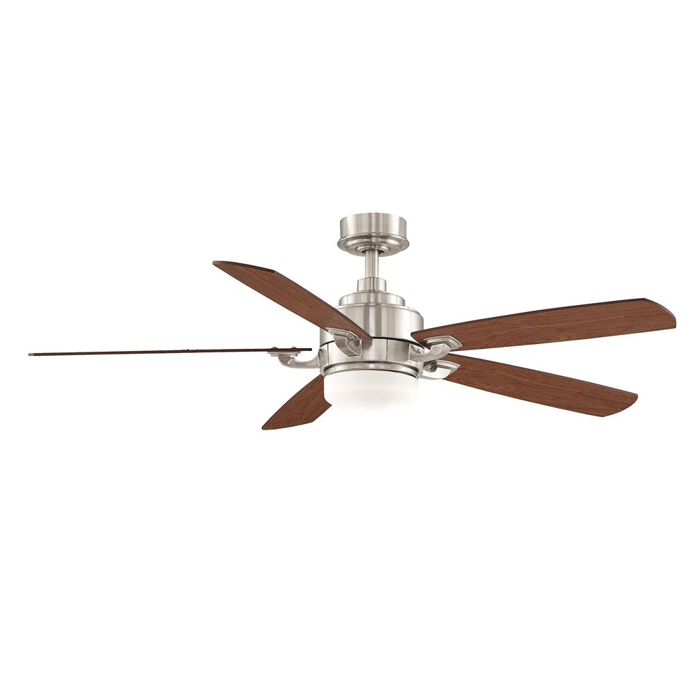 Fanimation FP8003BN BENITO Uni-pack Fan in BRUSHED NICKEL with CHERRY/WALNUT Blades