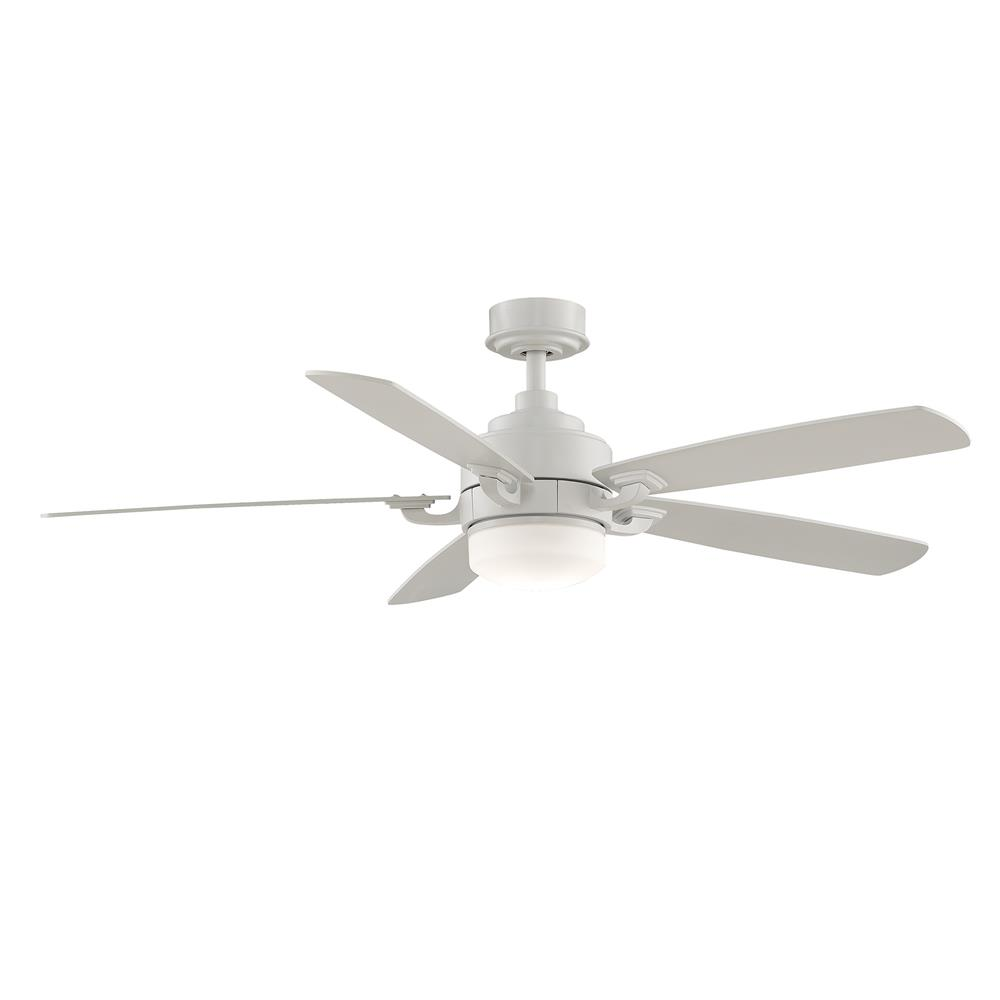 Fanimation FP8003MW BENITO Uni-pack Fan in MATTE WHITE with MATTE WHITE Blades