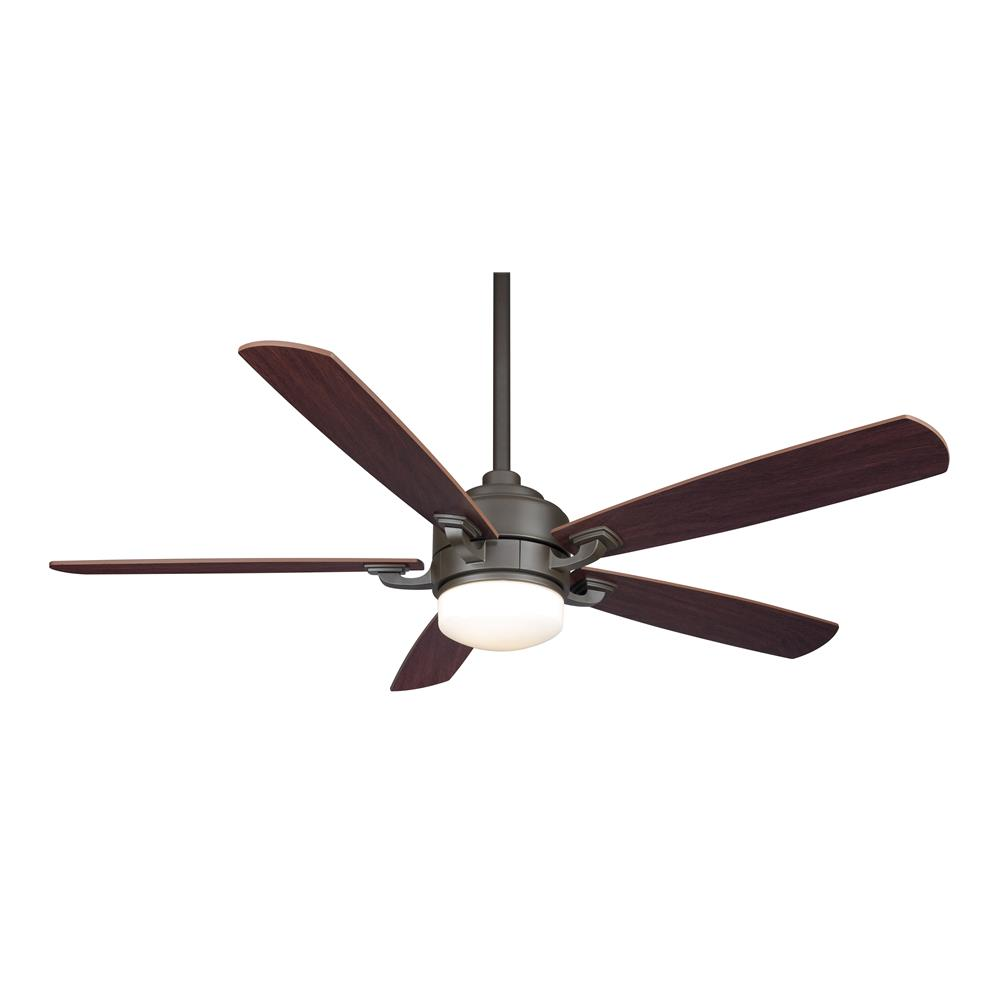 Fanimation FP8003OB BENITO Uni-pack Fan in OIL-RUBBED BRONZE with WALNUT/MAHOGANY Blades