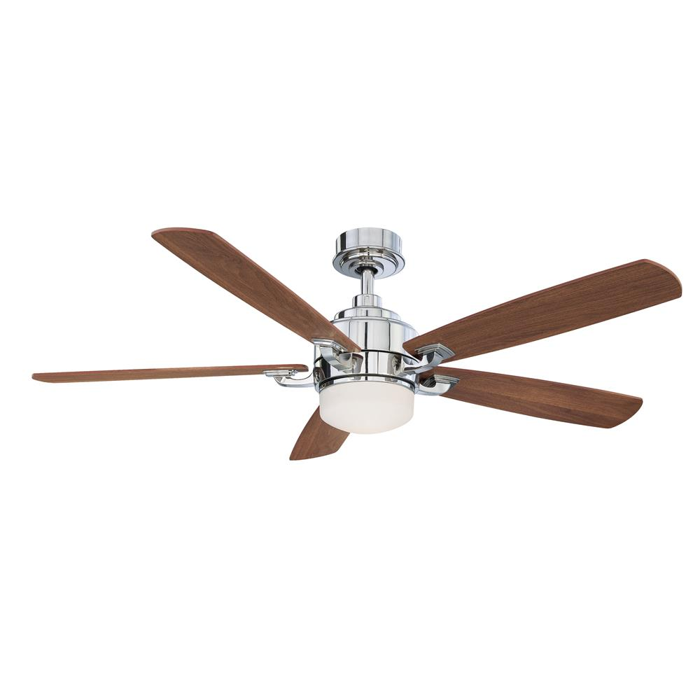 Fanimation FP8003PN BENITO Uni-pack Fan in POLISHED NICKEL with CHERRY/WALNUT Blades