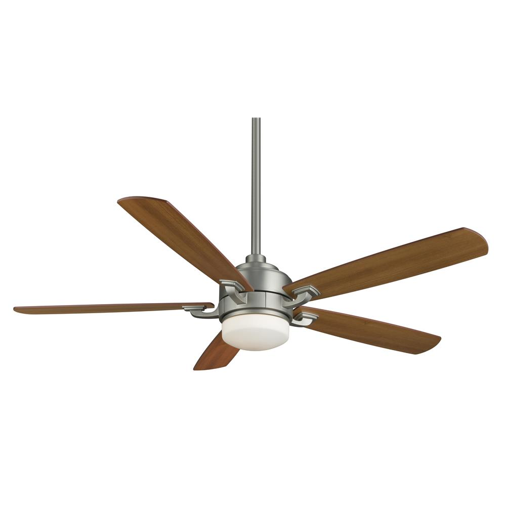 Fanimation FP8003SN BENITO Uni-pack Fan in SATIN NICKEL with CHERRY/WALUT Blades