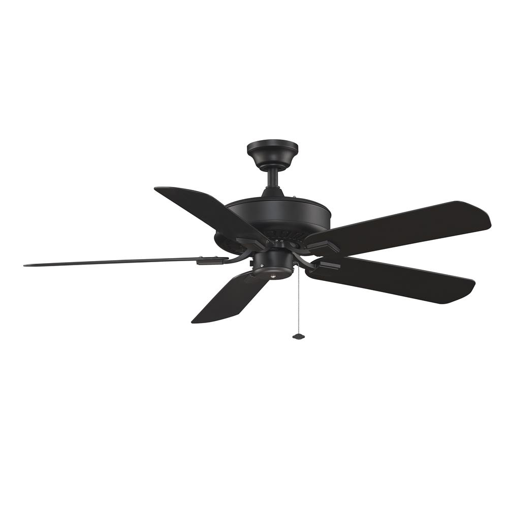 Fanimation TF910BL EDGEWOOD Uni-pack Fan in BLACK with BLACK Blades