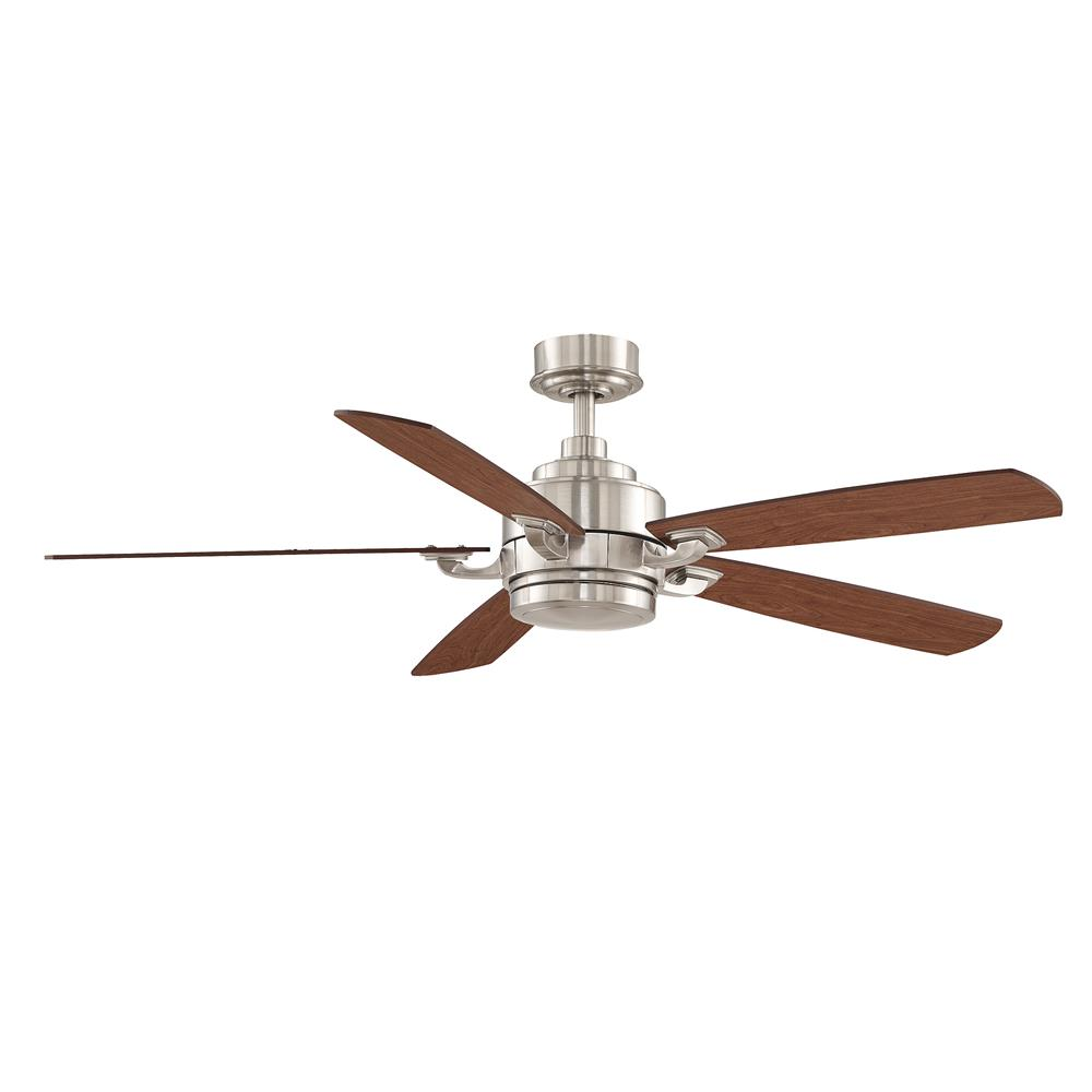Fanimation FP8003BN-220 Benito: Brushed Nickel, Cy/Wa Blade - 5 220V