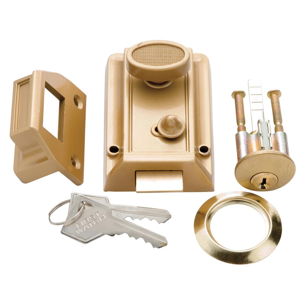 First Watch Security 1105 Night Latch & Locking Cylinder