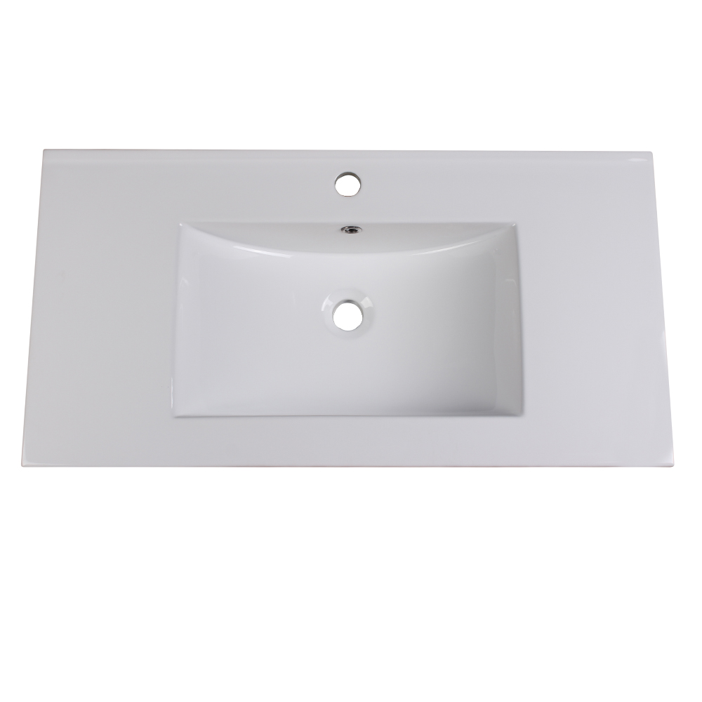"Fresca FVS6236WH Torino 36"" White Integrated Sink / Countertop"
