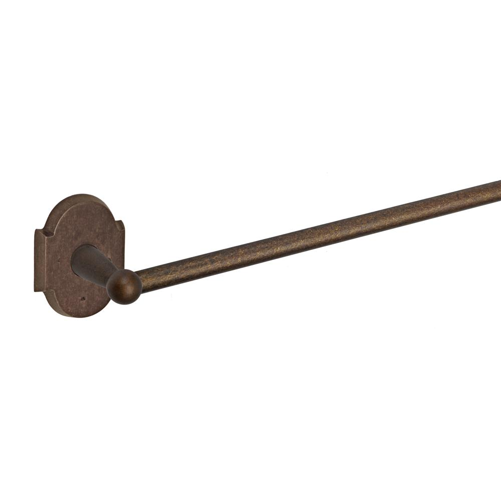 "Fusion Hardware TB-1-A3-MXB River Rock 18"" Towel Bar with Sandcast Bronze Scalloped Trim in Sandcast Medium Bronze"