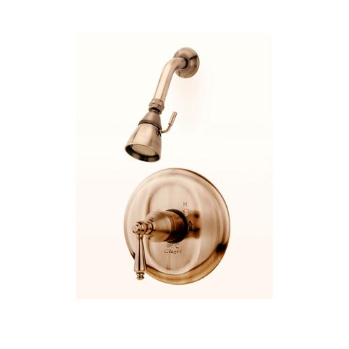 Giagni CC4-AN Colonial Pressure Balance Shower Set, Antique Nickel