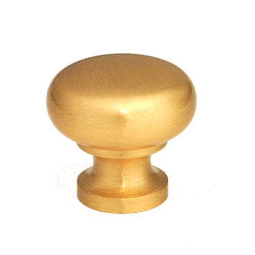 Giagni KB-6BR-5 QMI, QMI, 1 1/4 in. Round Knob- Satin Brass