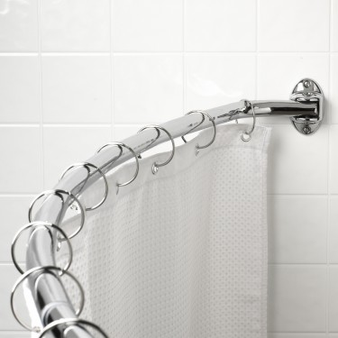"""Elements by Hardware Resources SR01-PC-R Curved Shower Rod Fits 60""""-72"""" Openings.  Finish: Polished"""