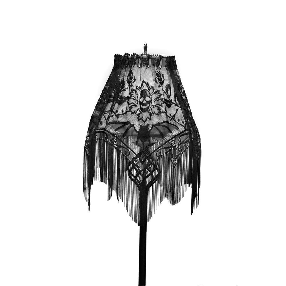 Heritage Lace 8295B-LS Halloween Gala 60X22 4-Way, Black