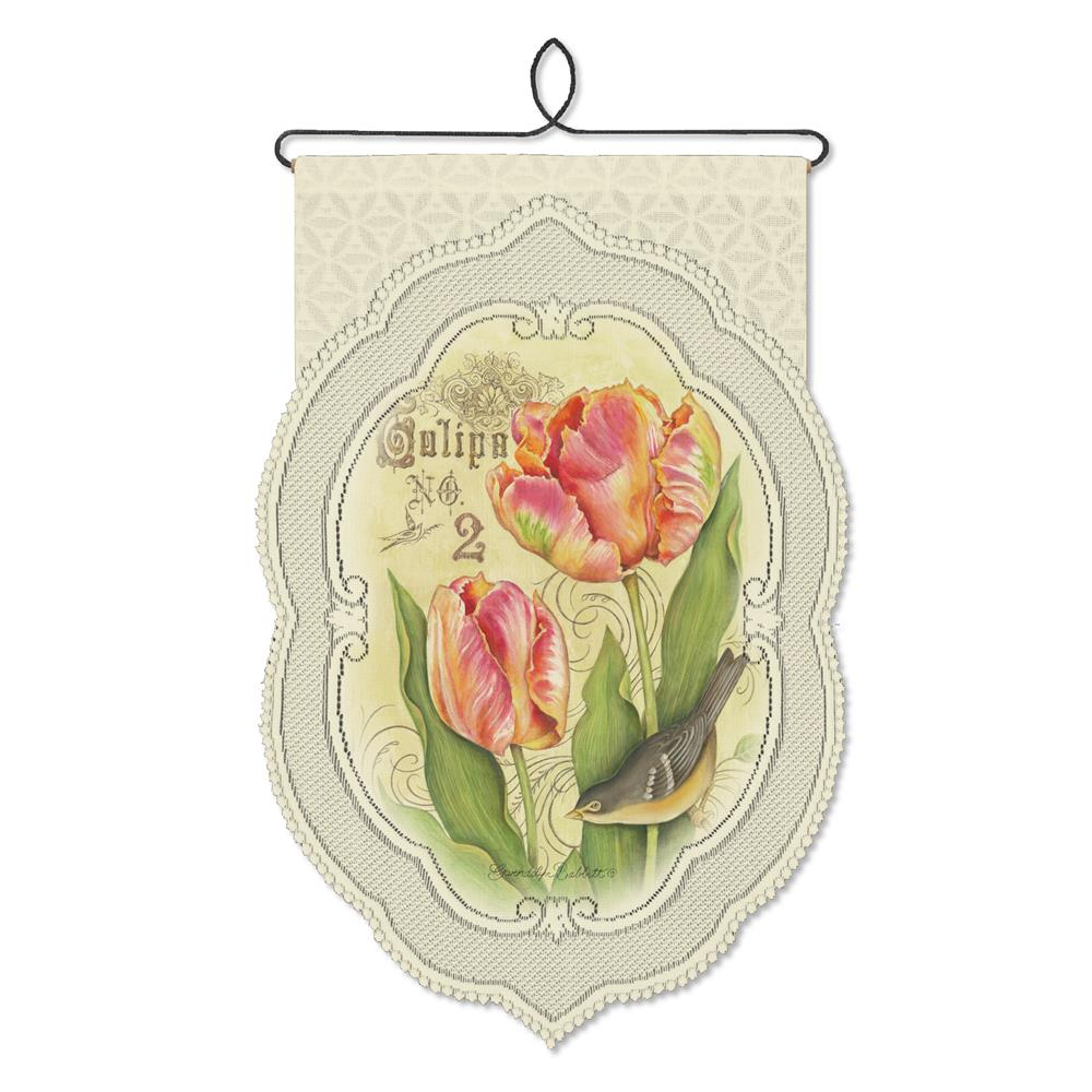 Heritage Lace WH80C-0762 Tulips No.2 14X21, Cafe