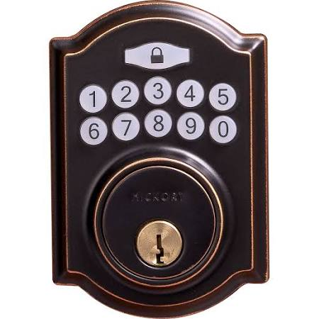 "Hickory Hardware HH075772-ABZ Electronic Keypad Grade 3 Deadbolt 3-3/16""x6-13/16""x2-1/16"" Aged Bronze Finish"
