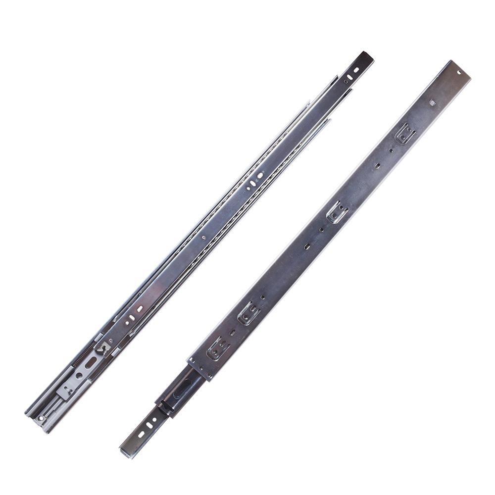 Hickory Hardware P1055/22-2C Drawer Slides Soft Close Ball Bearing Full Extension in Cadmium