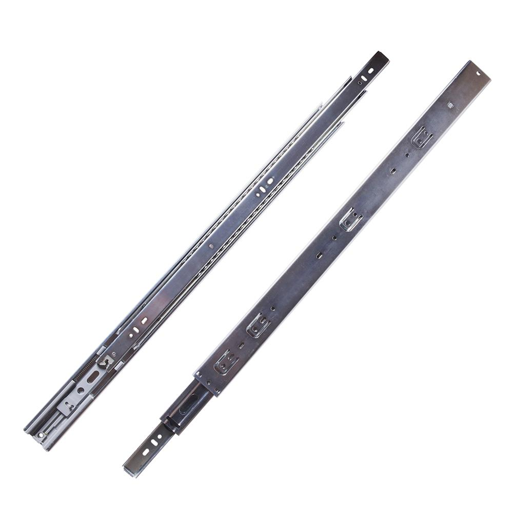 Hickory Hardware P1055/24-2C Drawer Slides Soft Close Ball Bearing Full Extension in Cadmium