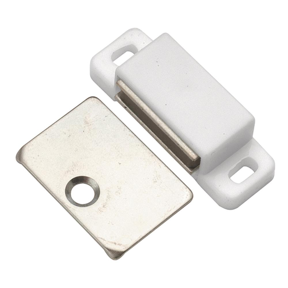 Hickory Hardware P109-W 1-7/16 In. White Super Magnetic Catch