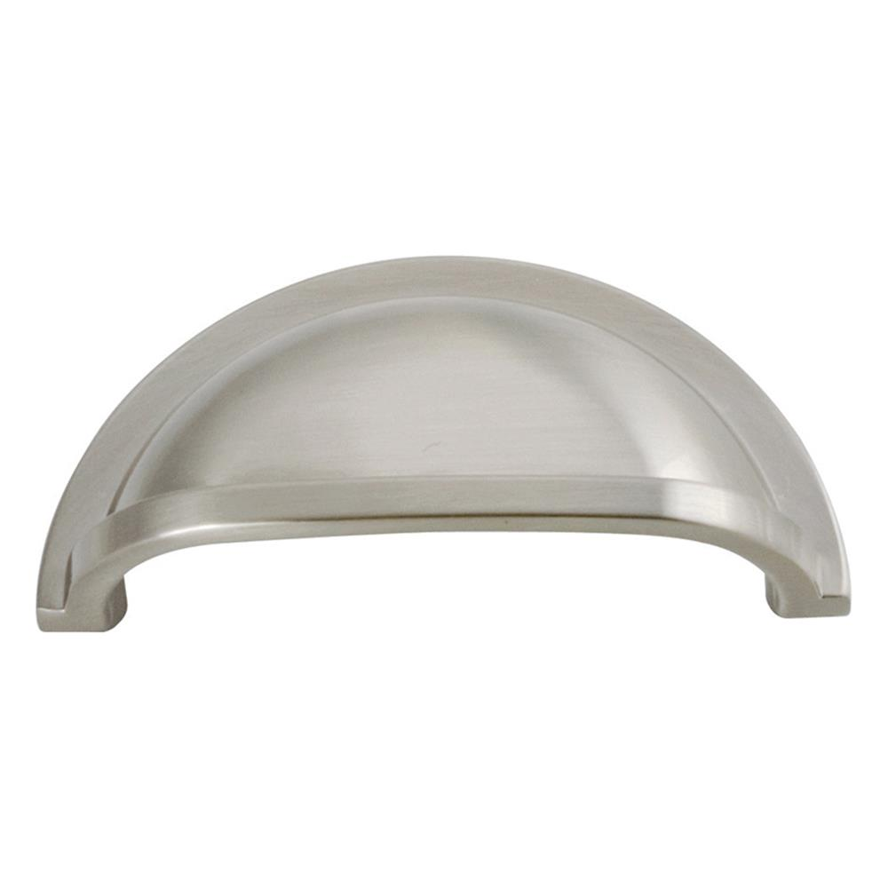 "Hickory Hardware P3055-15 3"" Williamsburg Transitional Satin Nickel Cup Pull"