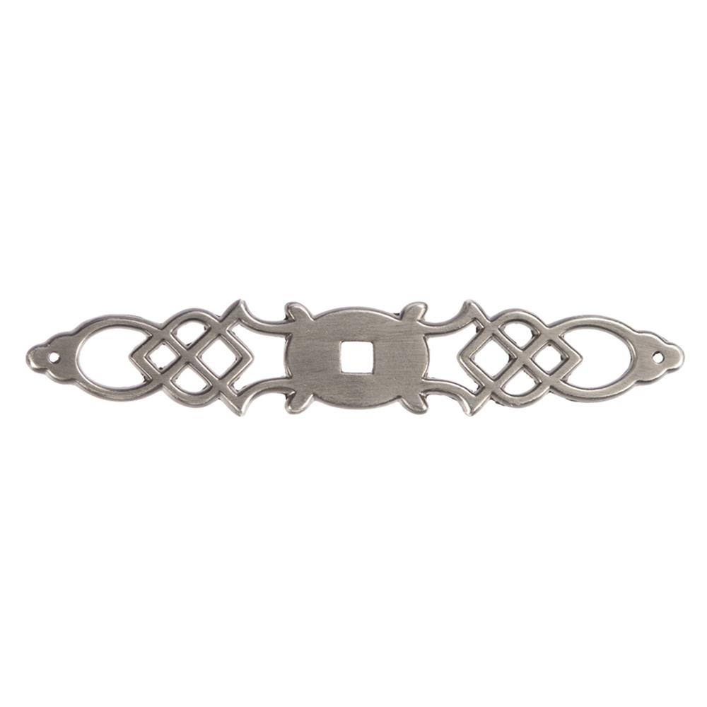 "Hickory Hardware P326-ST 5-1/2"" Manor House Traditional Silver Stone Backplate"
