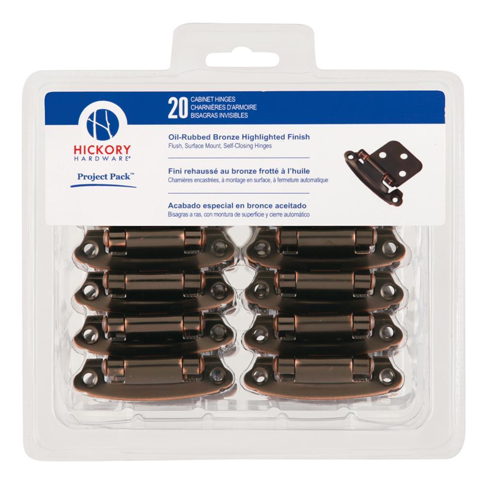 Hickory Hardware VP244-OBH HINGE,FLUSH,SELF CLOSE, 10/PK