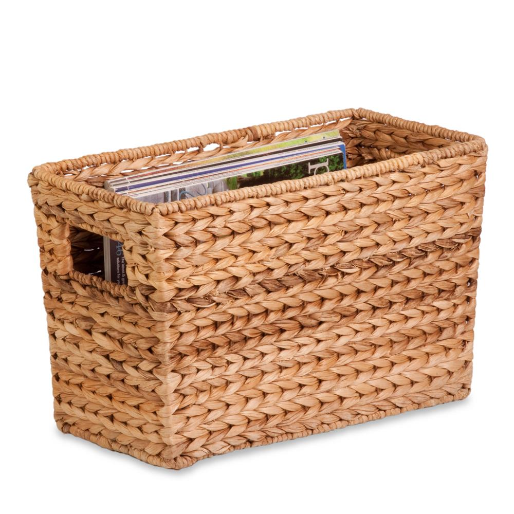 Honey-Can-Do STO-02883 Large Magazine water hyacinth Basket, natural/brown