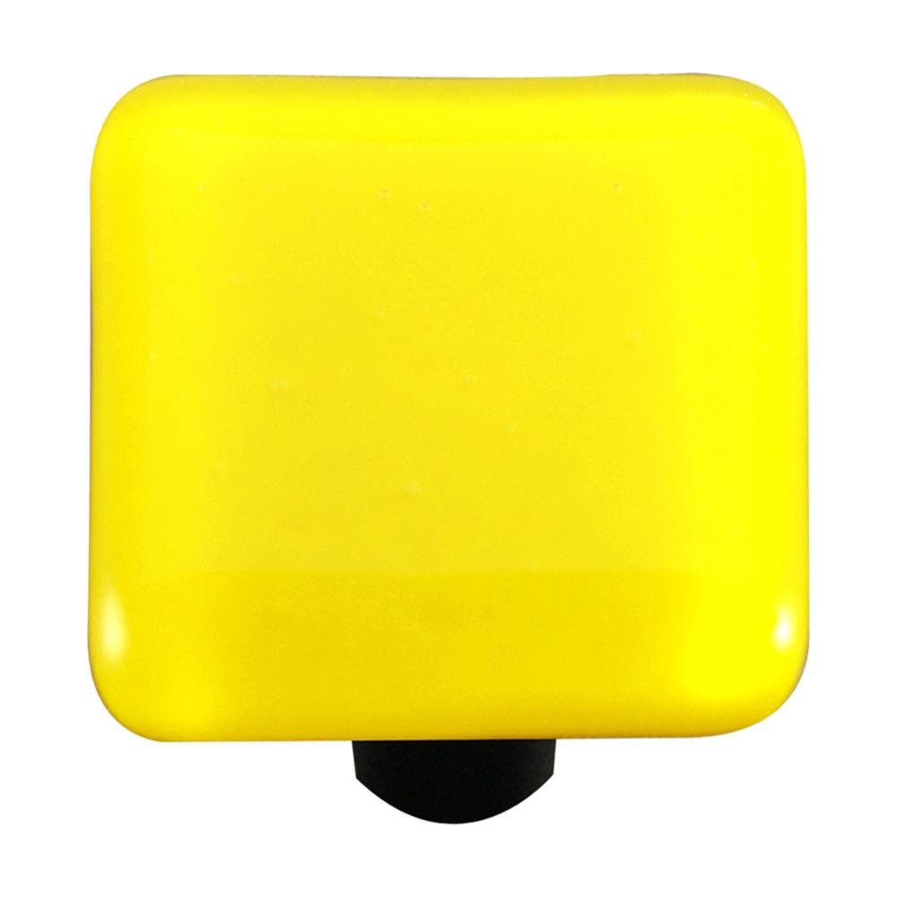Hot Knobs HK1010-KB Solids Canary Yellow Knob Black Post