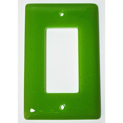 Hot Knobs WP1018-1GD Solids Spring Green Transparent 1 Gang Decoration Wall Plate