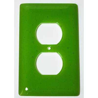 Hot Knobs WP1018-1GR Solids Spring Green Transparent 1 Gang Receptical Wall Plate