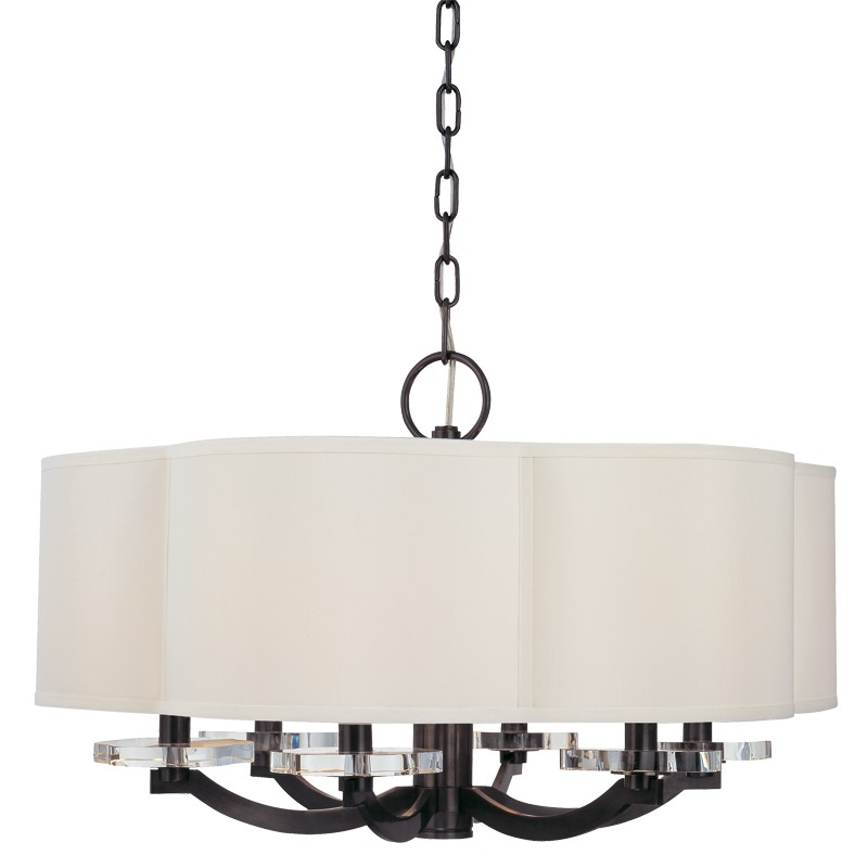 Hudson Valley Lighting 1426-OB Garrison 6 Light Chandelier in Old Bronze