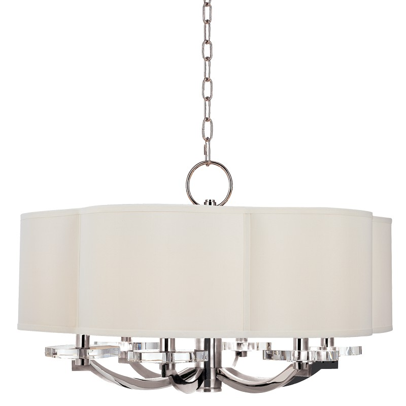 Hudson Valley Lighting 1426-PN Garrison 6 Light Chandelier in Polished Nickel