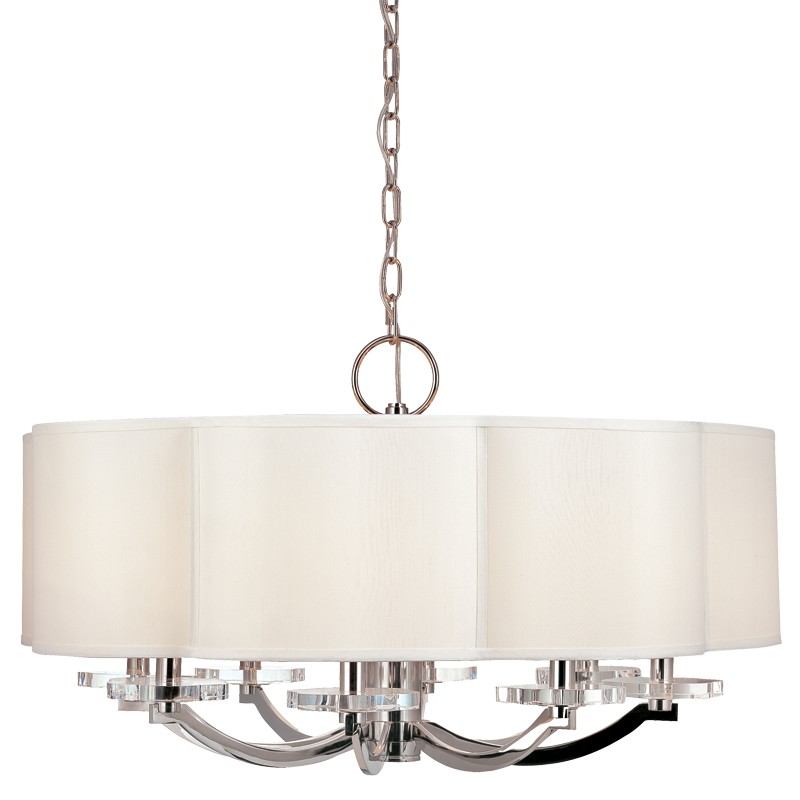 Hudson Valley Lighting 1432-PN Garrison 8 Light Chandelier in Polished Nickel