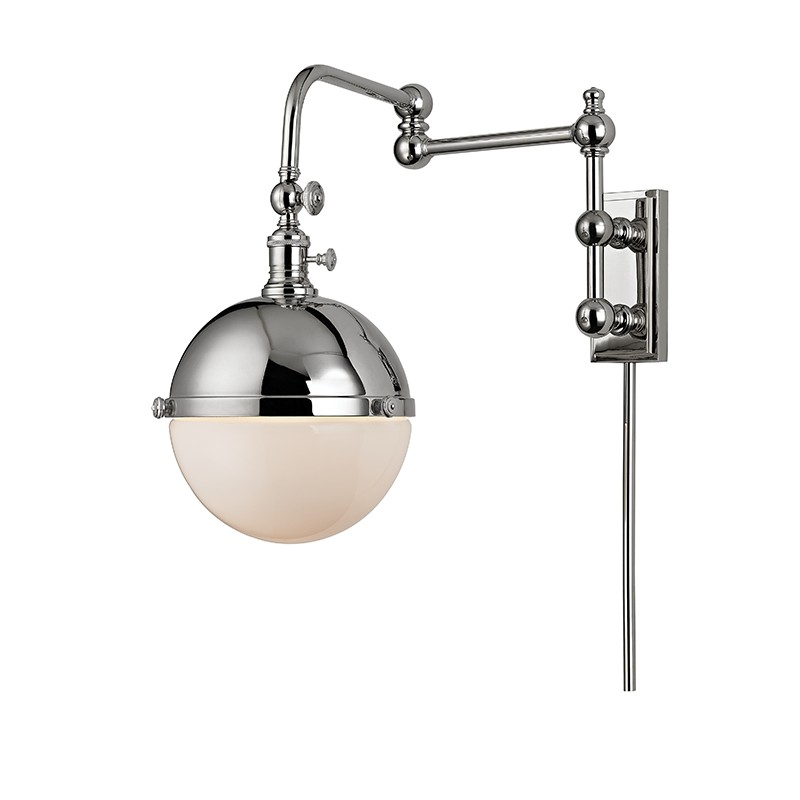 Hudson Valley 1672-PN STANLEY-WALL SCONCE in Polished Nickel