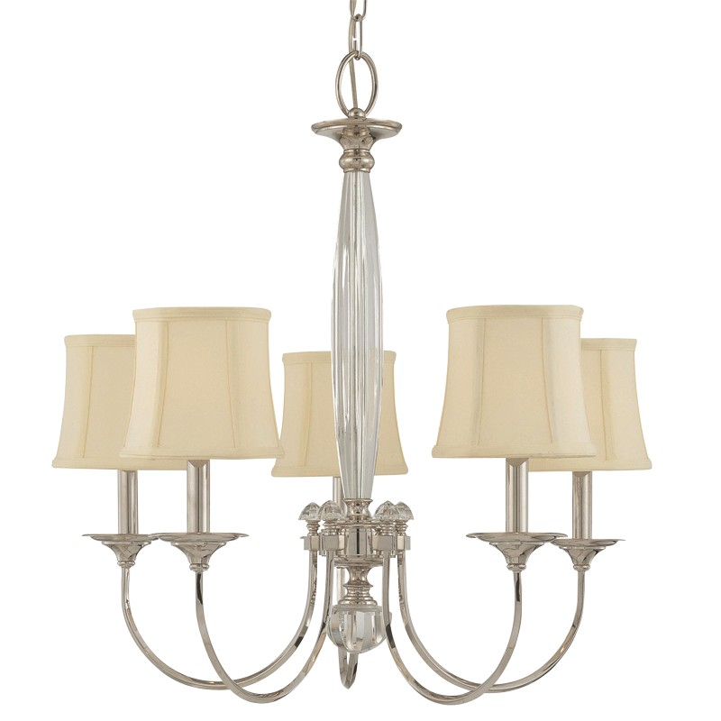 Hudson Valley Lighting 1815-PN Rockville 5 Light Chandelier in Polished Nickel