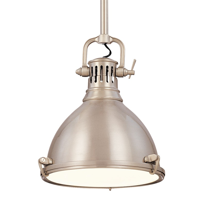 Hudson Valley Lighting 2210-SN Pelham 1 Light Pendant in Satin Nickel