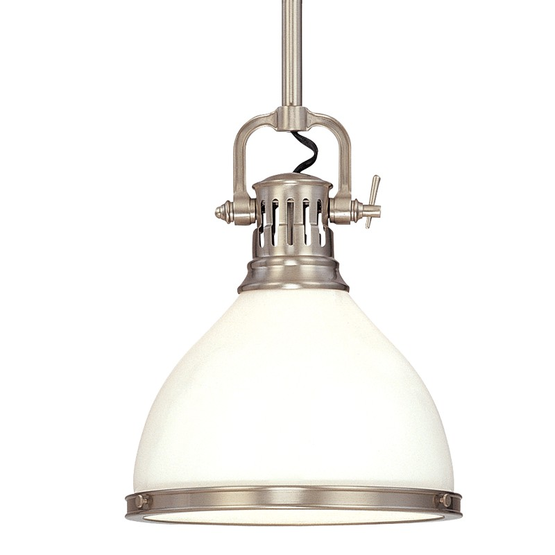 Hudson Valley Lighting 2621-SN Randolph 1 Light Pendant in Satin Nickel