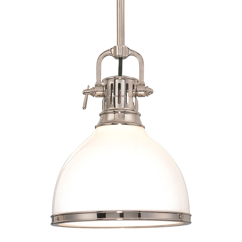 Hudson Valley Lighting 2622-PN Randolph 1 Light Pendant in Polished Nickel