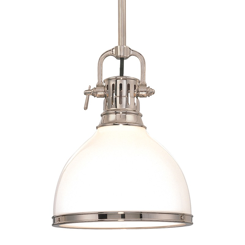 Hudson Valley Lighting 2623-PN Randolph 1 Light Pendant in Polished Nickel