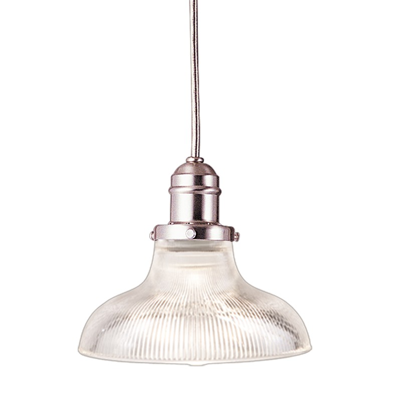 Hudson Valley Lighting 3101-SN-R08 Vintage Collection 1 Light Pendant in Satin Nickel