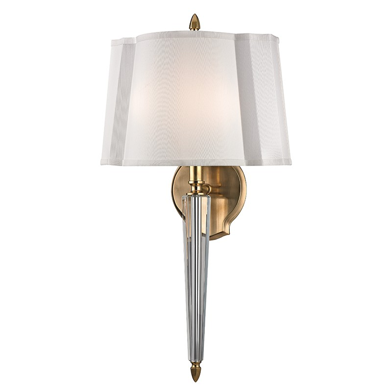 Hudson Valley Lighting 3611-AGB Oyster Bay 2 Light Wall Sconce in Aged Brass